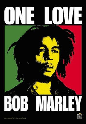 Bob Marley One Love Fabric Poster