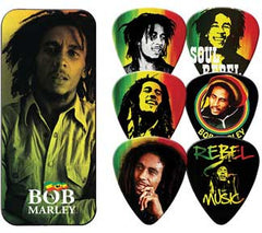 Bob Marley Rasta Guitar Picks Tin