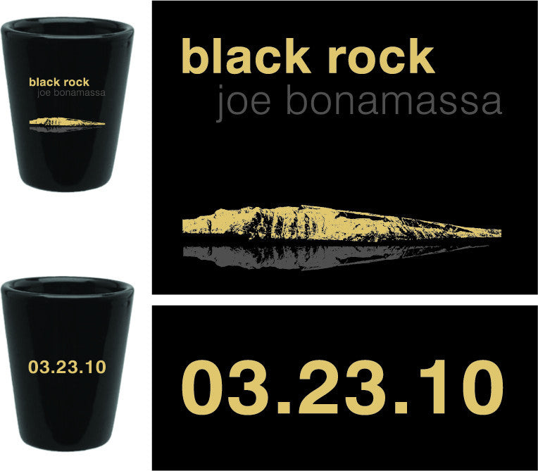 Joe Bonamassa Black Rock Shot Glass