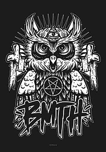 Bring Me The Horizon Owl Fabric Poster