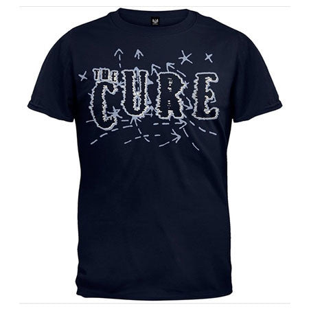 The Cure Navy Mens T-Shirt