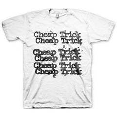 Cheap Trick Stacked Logo White Mens T-Shirt