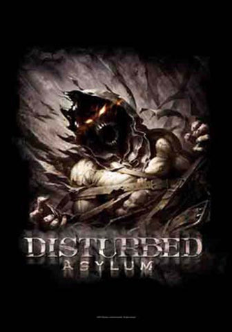 Disturbed Big Fade Asylum Fabric Poster
