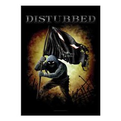 Disturbed Face Flag Fabric Poster