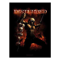 Disturbed Divide and Conquer Fabric Poster