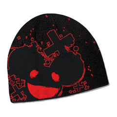 deadmau5 Black and Red Splatter Beanie