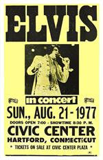 Elvis Presley Civic Center Concert Poster