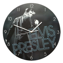 Elvis Presley Cordless Wood Wall Clock