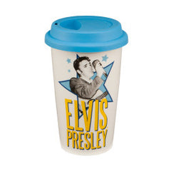 Elvis Presley 12 oz Double Wall Ceramic Travel Mug