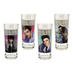 Elvis Presley Anniversary 10 oz Glass Set