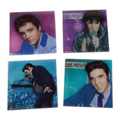 Elvis Presley Glass Coaster Set