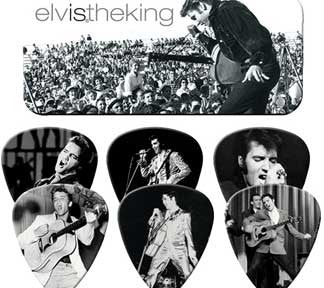Elvis Presley The King Guitar Picks Tin