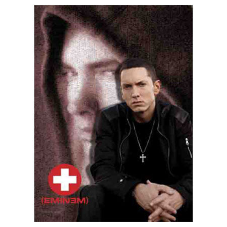 Eminem Red Cross Fabric Poster