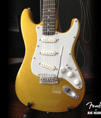 Mini Guitar - Fender Metallic Gold Strat