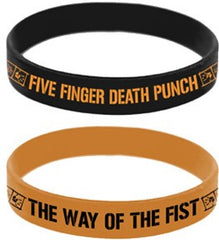 Five Finger Death Punch WOTF Logo Rubber Wristband