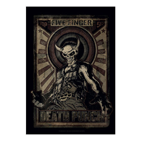 Five Finger Death Punch Mercenary Fabric Poster