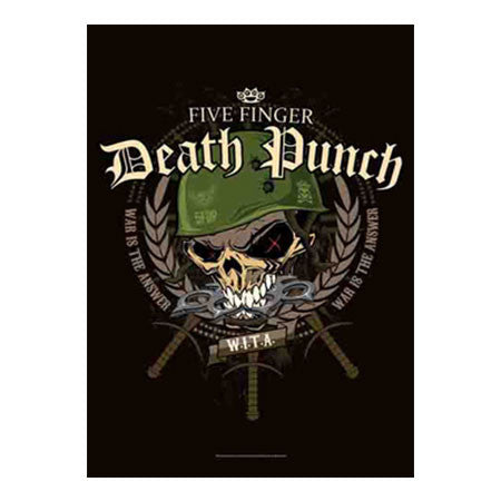 Five Finger Death Punch Warhead Fabric Poster