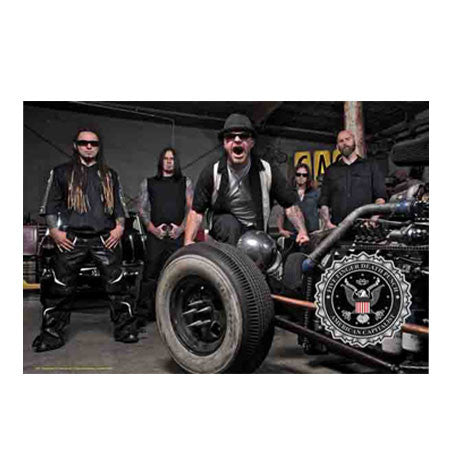 Five Finger Death Punch Band Photo Fabric Poster