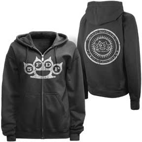 Five Finger Death Punch Knuckle Zip Hoodie