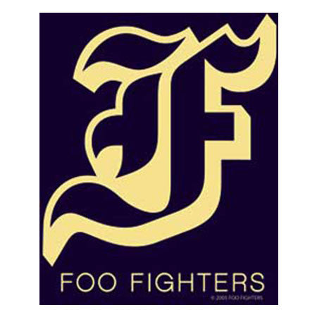 Foo Fighters Black And Gold Flag Sticker