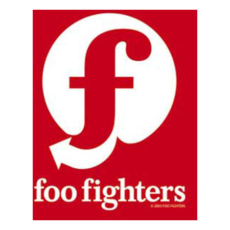 Foo Fighters Red And White Flag Sticker