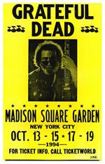 Grateful Dead Madison Square Garden Concert Poster