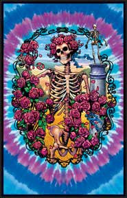 Grateful Dead 30 Year Velvet Blacklight Poster