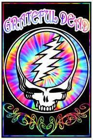 Grateful Dead Space Face Velvet Blacklight Poster