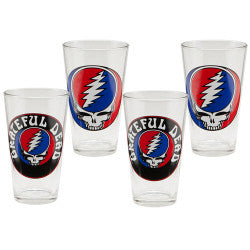 Grateful Dead 16 oz Glass Set