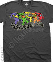 Grateful Dead Trippy Bears Gray Mens T-Shirt
