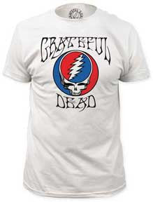 Grateful Dead Logo Steal Your Face Fitted Jersey T-Shirt