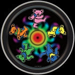 Grateful Dead Dancing Bears Round Tin