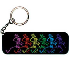 Grateful Dead Skeletons Rubber Keychain