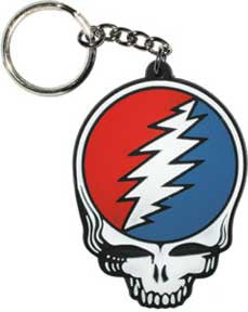 Grateful Dead Steal Your Face Diecut Rubber Keychain