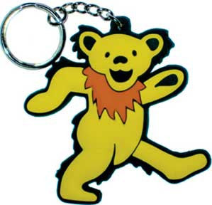 Grateful Dead Yellow Bear Rubber Keychain