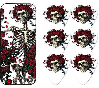 Grateful Dead Skull and Roses Guitar Picks Tin