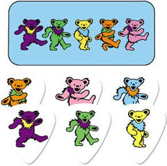 Grateful Dead Colorful Dancing Bears Guitar Picks Tin