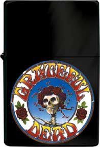 Grateful Dead Skull Rose Logo Refil Lighter