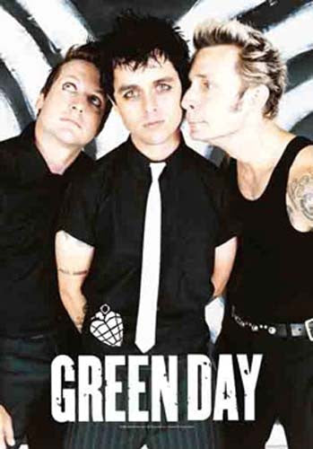 Green Day Band Fabric Poster