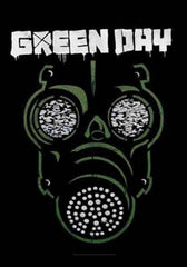 Green Day Gas Mask Fabric Poster