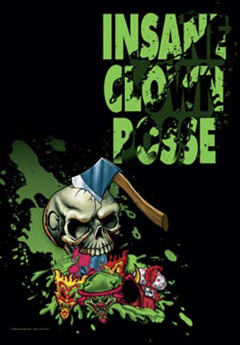 Insane Clown Posse Hatchet Skull Fabric Poster