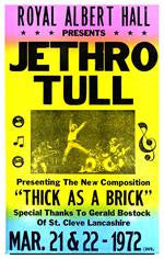 Jethro Tull Thick As A Brick Concert Poster