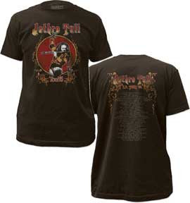Jethro Tull Tour 75 Fitted Jersey T-Shirt