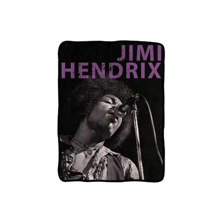 Jimi Hendrix Black And White Fleece Blanket