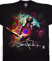 Jimi Hendrix Angel Black Athletic T-Shirt