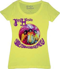 Jimi Hendrix Experience Womens Yellow T-Shirt