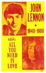John Lennon All You Need Is Love Concert Poster