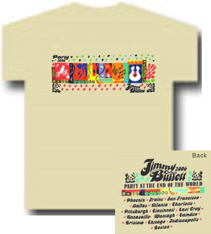 Jimmy Buffett Block 06 Tour T-Shirt