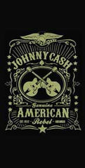 Johnny Cash American Rebel Beach Towel