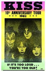 KISS 19th Anniversary Tour Concert Poster